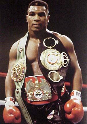Mike Tyson Championship Belts