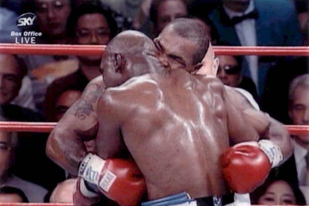 Mike Tyson Evander Holyfield ear biting bite